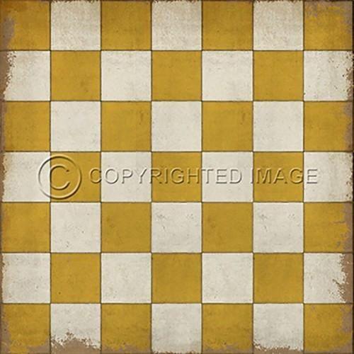 Vinyl Floorcloth Check Please Yellow Floor Cloth Vinyl Flooring Vinyl Floor Covering