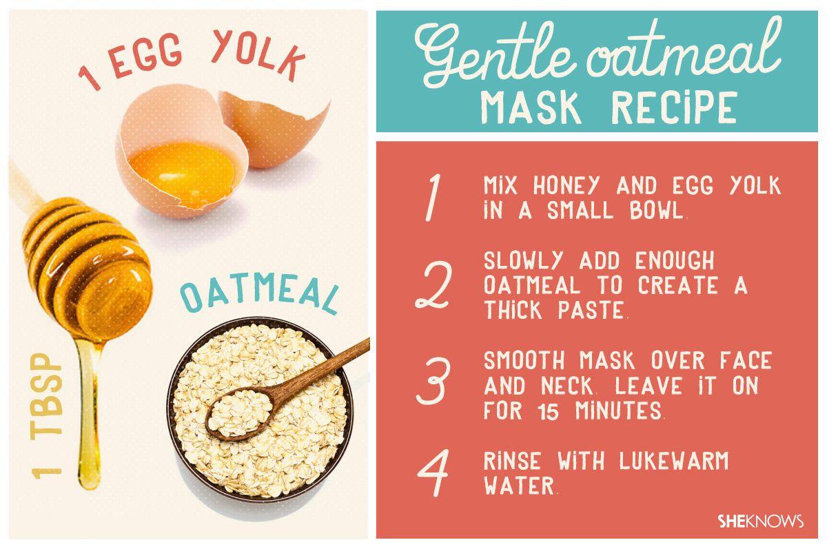 Homemade oatmeal facial masks