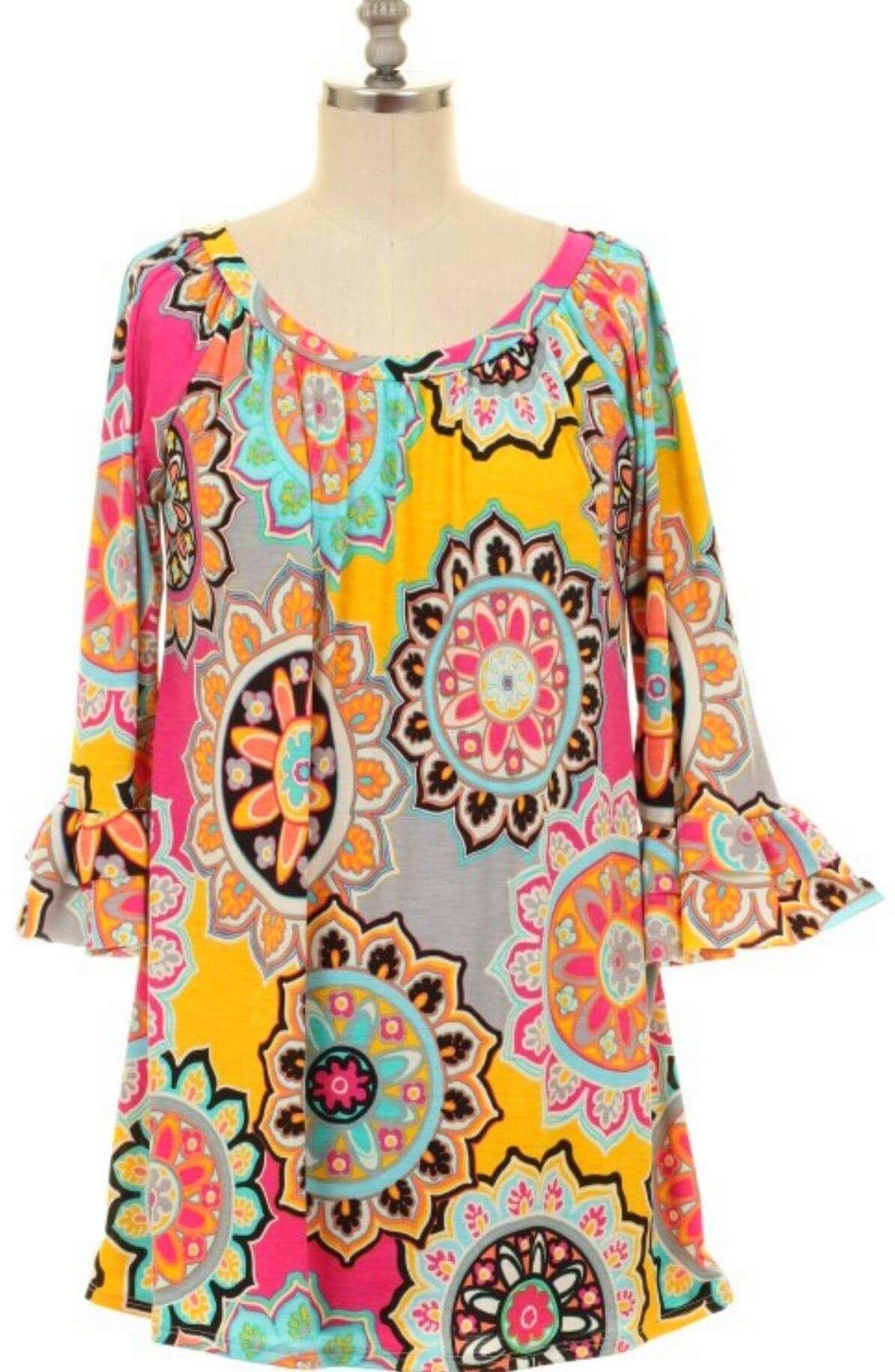 36a127e2bcf Tangled up Medallion Tunic Top - Also in Plus Size