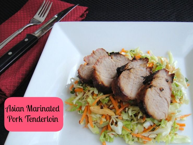 Pork tenderloin with Asian Marinade. 188 calories and 4 WW Points +