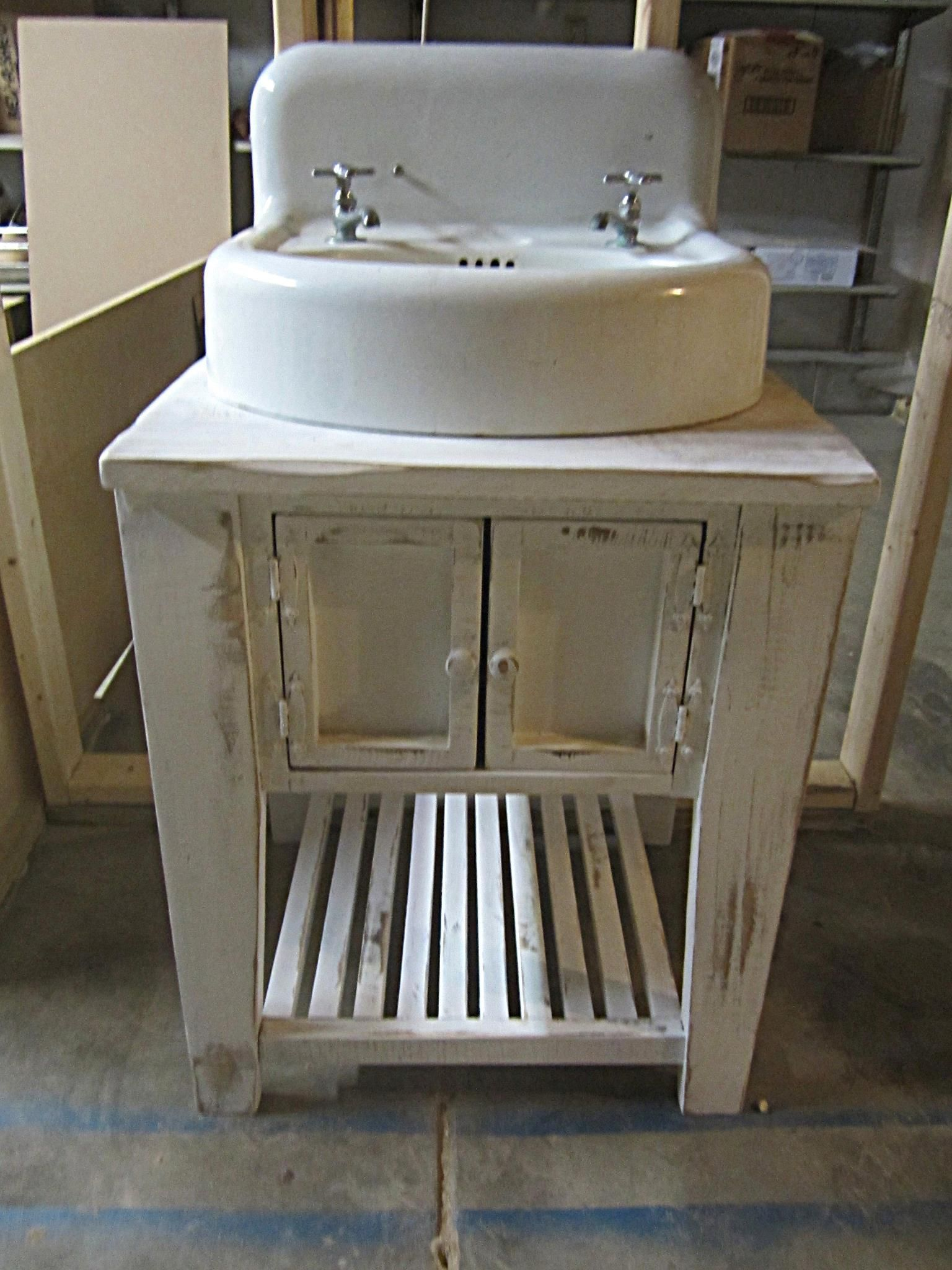 Farmhouse Vanities w/ Antique Sink Can use your sink/ one