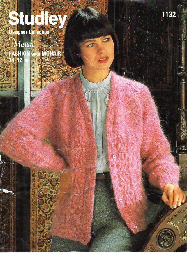 0ae870573 vintage womens mohair cardigan knitting pattern pdf ladies bobble ...