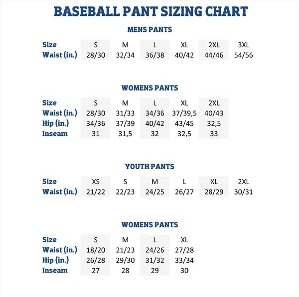 Size Chart For Easton Youth Baseball Pants In 2020 Baseball Pants Adidas Baseball Baseball Helmet