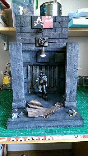 Custom made action figure dioramas by Louise Townend | Batman