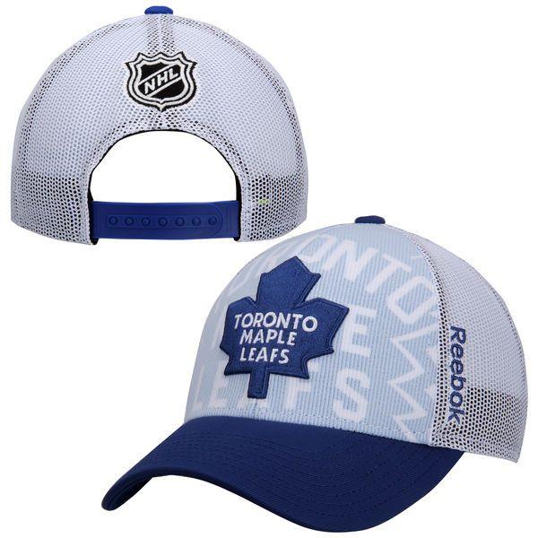 c9fb1faa9fc Men s Toronto Maple Leafs Reebok White NHL Draft Adjustable Hat ...