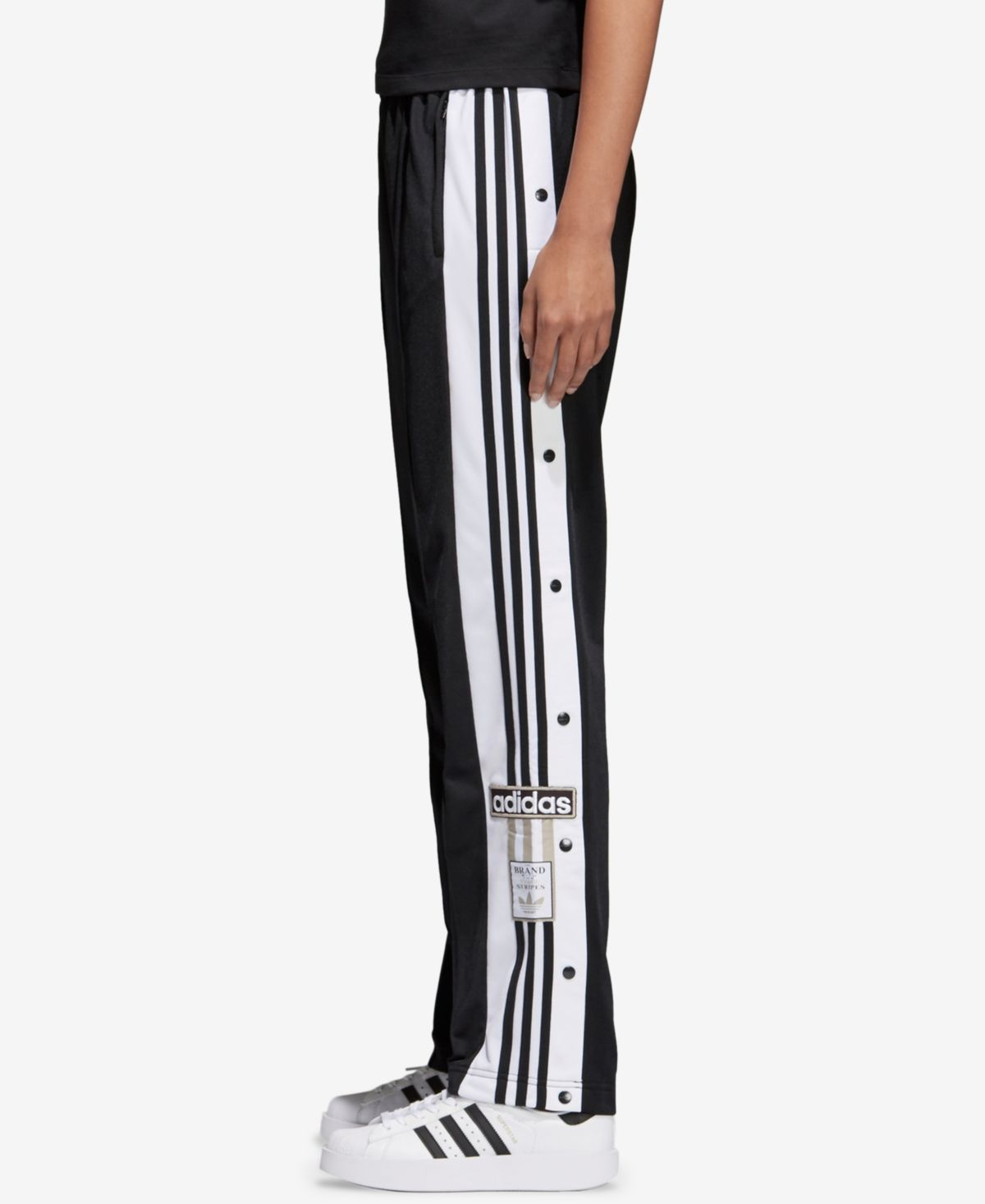 adidas Originals adibreak 3-Stripe Track Pants - Black ...