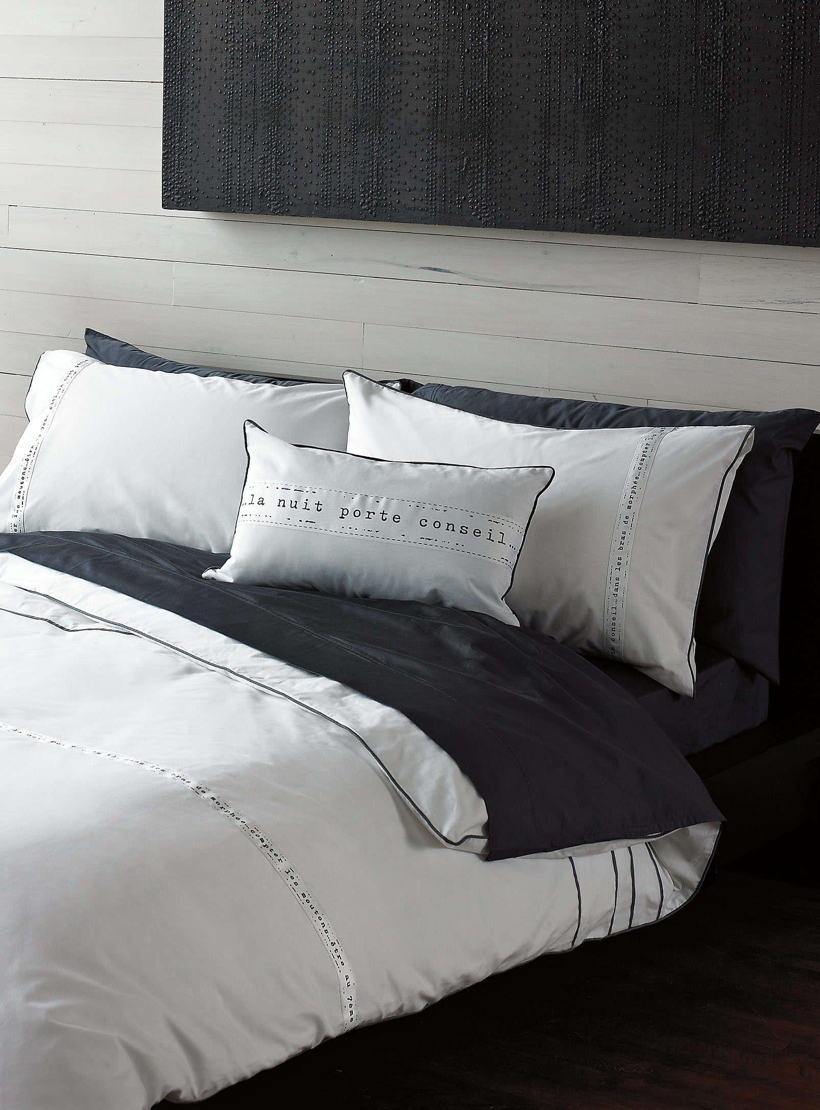 l 39 ensemble housse bonne nuit housses de couette et douillettes simons maison. Black Bedroom Furniture Sets. Home Design Ideas