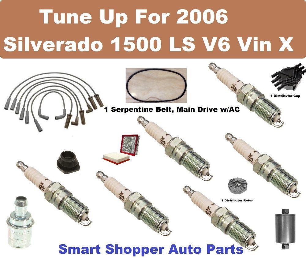 Tune Up For 2006 Silverado Truck 1500 Ls Vin X V6 Distrib Cap