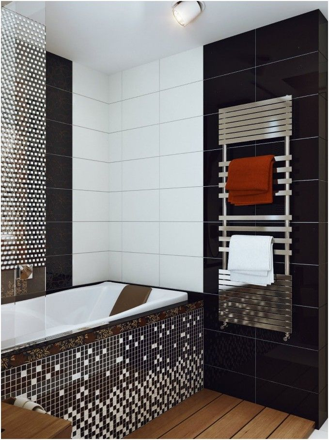 awesome Elegant Black White Bathroom Tile Designs mifd283
