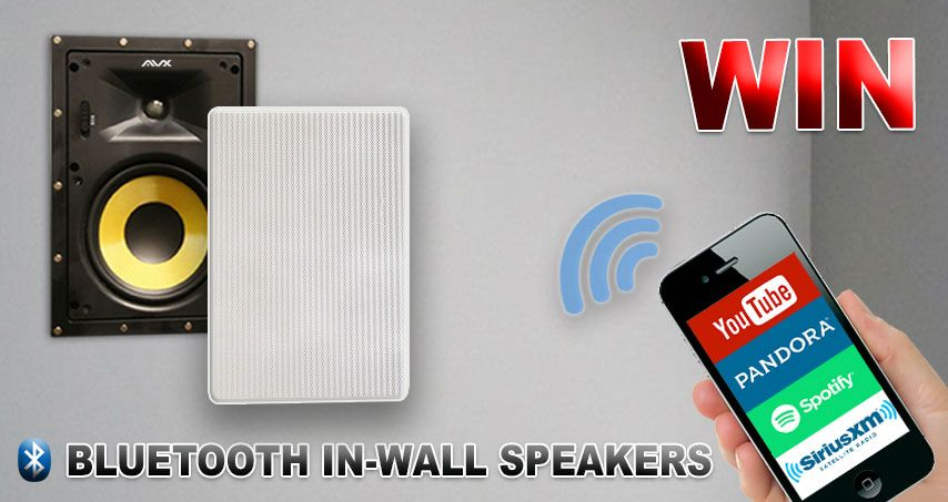 Win Avx Bt6iw Bluetooth In Wall Speaker Pair 6 5 By Avx Audio Quality Speakers And Stealth Appearance Are U Speaker In Wall Speakers Multiroom Audio System