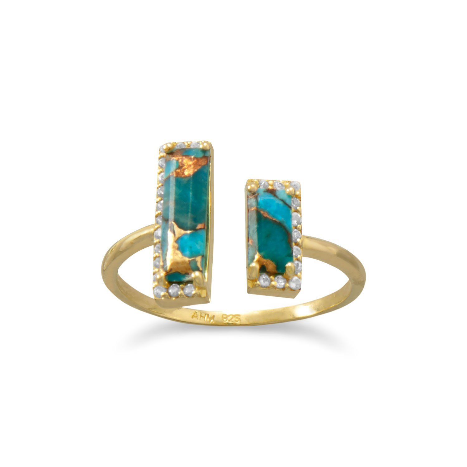 one bands cut fashion square blue set gemstone jewelry citrine and cp rings bezel topaz gold in