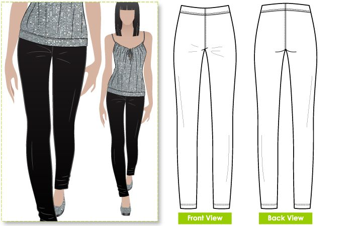 Elle Pant - Slim line stretch woven pant elastic waist pant | Sewing ...