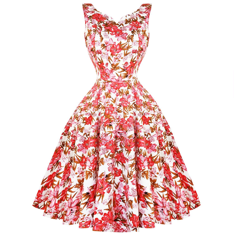 new concept ff50a 5780f Hearts & Roses London Pink Lilly Vestito anni '50 | Abiti ...