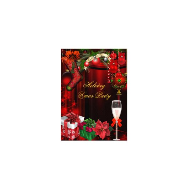 Christmas Holiday Party Invitations ❤ liked on Polyvore featuring home, home decor, holiday decorations, christmas holiday decor, holiday decor, christmas home decor, christmas holiday decorations and holiday home decor