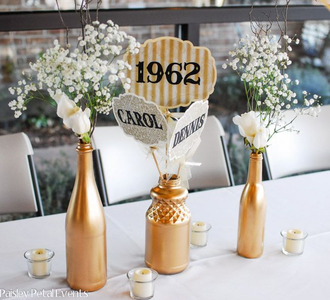 50th wedding anniversary centerpieces 2 more - 50th Wedding Anniversary Decorations