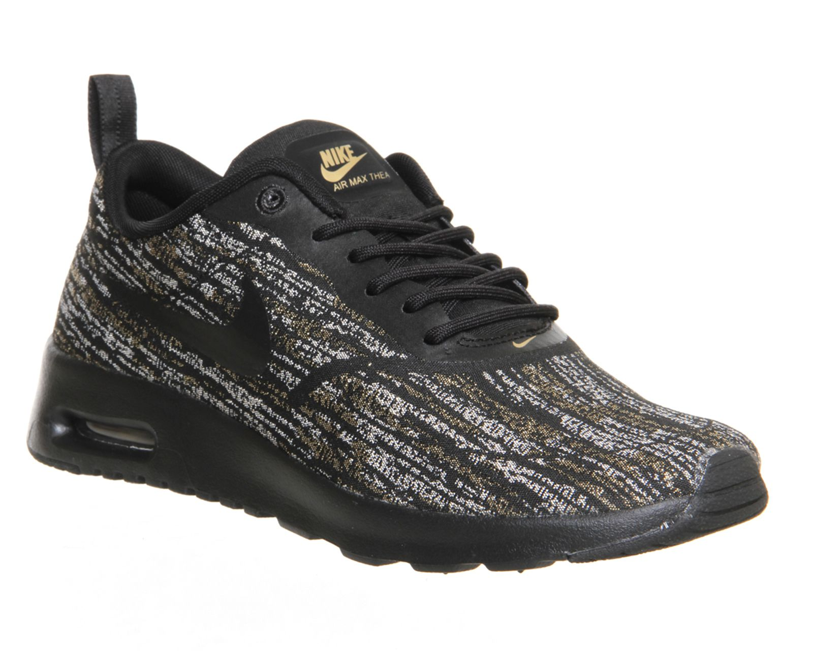 save off 5ab9c 60d87 Nike Air Max Thea Black Metallic Gold Jacquard - Hers trainers   Size 6