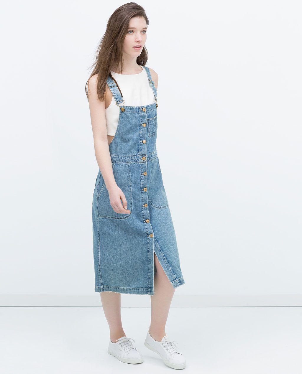 Pin von e m s auf ☆LOOK☆  Latzhosenkleid, Jeans kleid, Kleidung