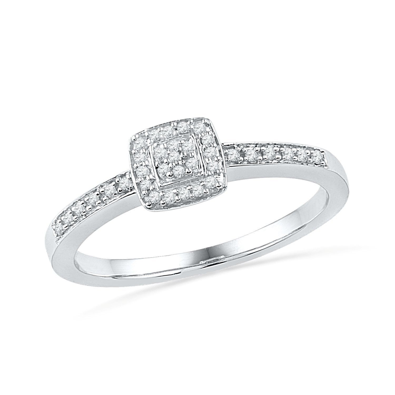 Sterling silver round diamond promise ring cttw cjidj