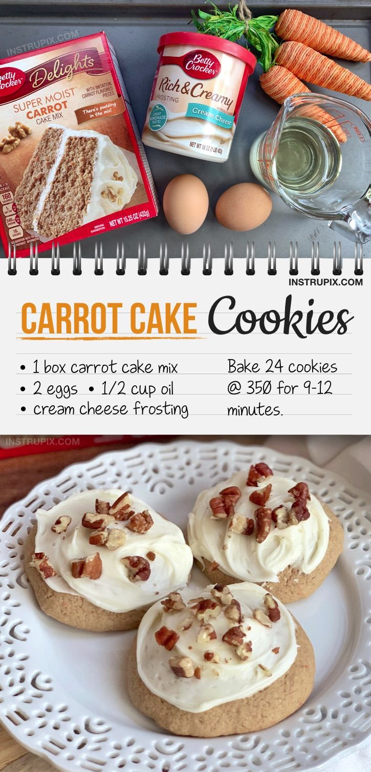 The World's Easiest Carrot Cake Cookies
