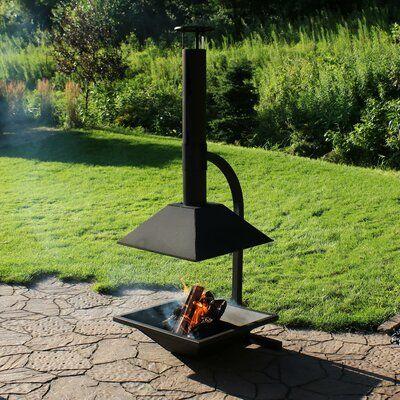 Sunnydaze Decor Sunnydaze Black Steel Wood Burning Chiminea 2020 Backyard Fire Chiminea Fire Pit Fire Pit Backyard