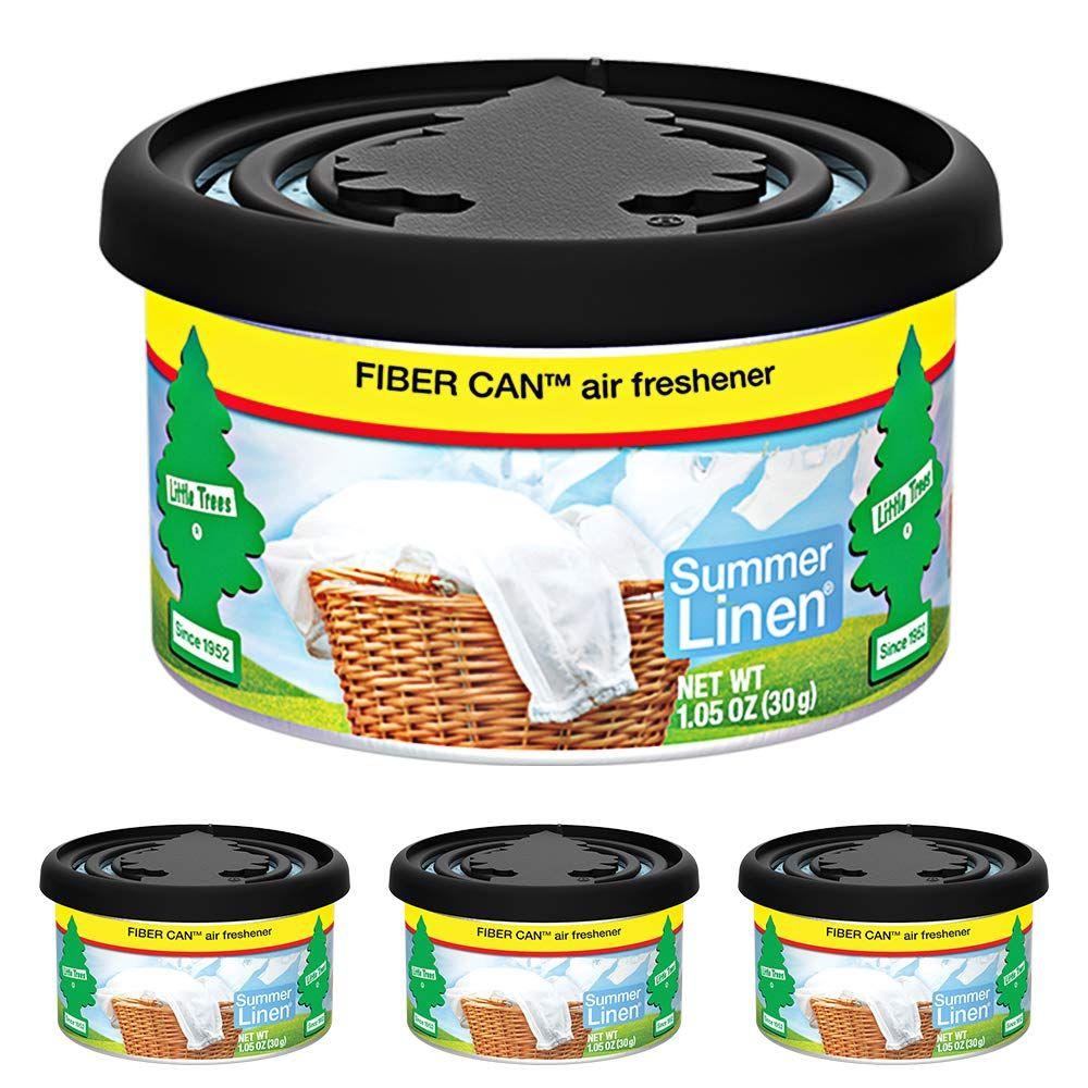 LITTLE TREES Fiber Can auto air freshener, Summer Linen, 4