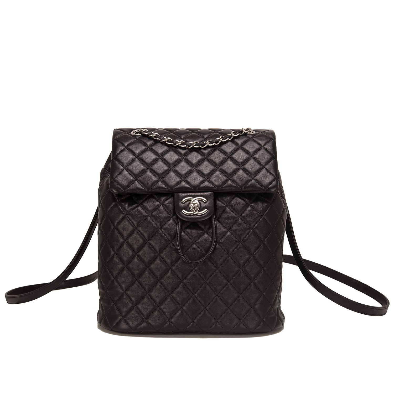 Chanel Urban Spirit Black Quilted Lambskin Large Backpack ... : chanel quilted backpack - Adamdwight.com