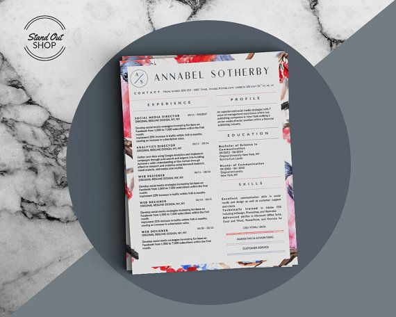 Annabel Sotherby Beautiful Resume and Cover Letter Template for - apple pages resume templates