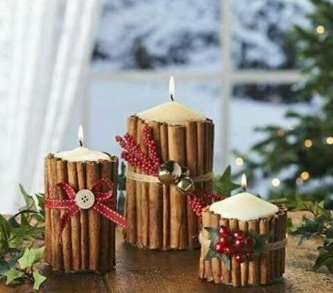 Candle cinnamon sticks