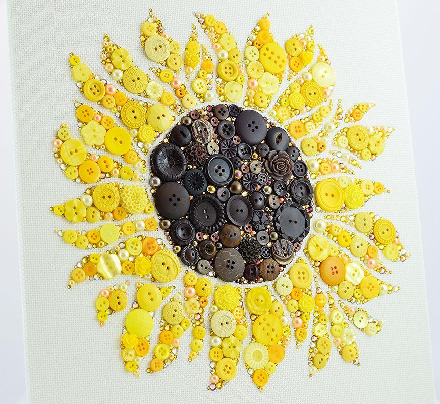 Sunflower Button Art by EverythingButtons.deviantart.com on ...