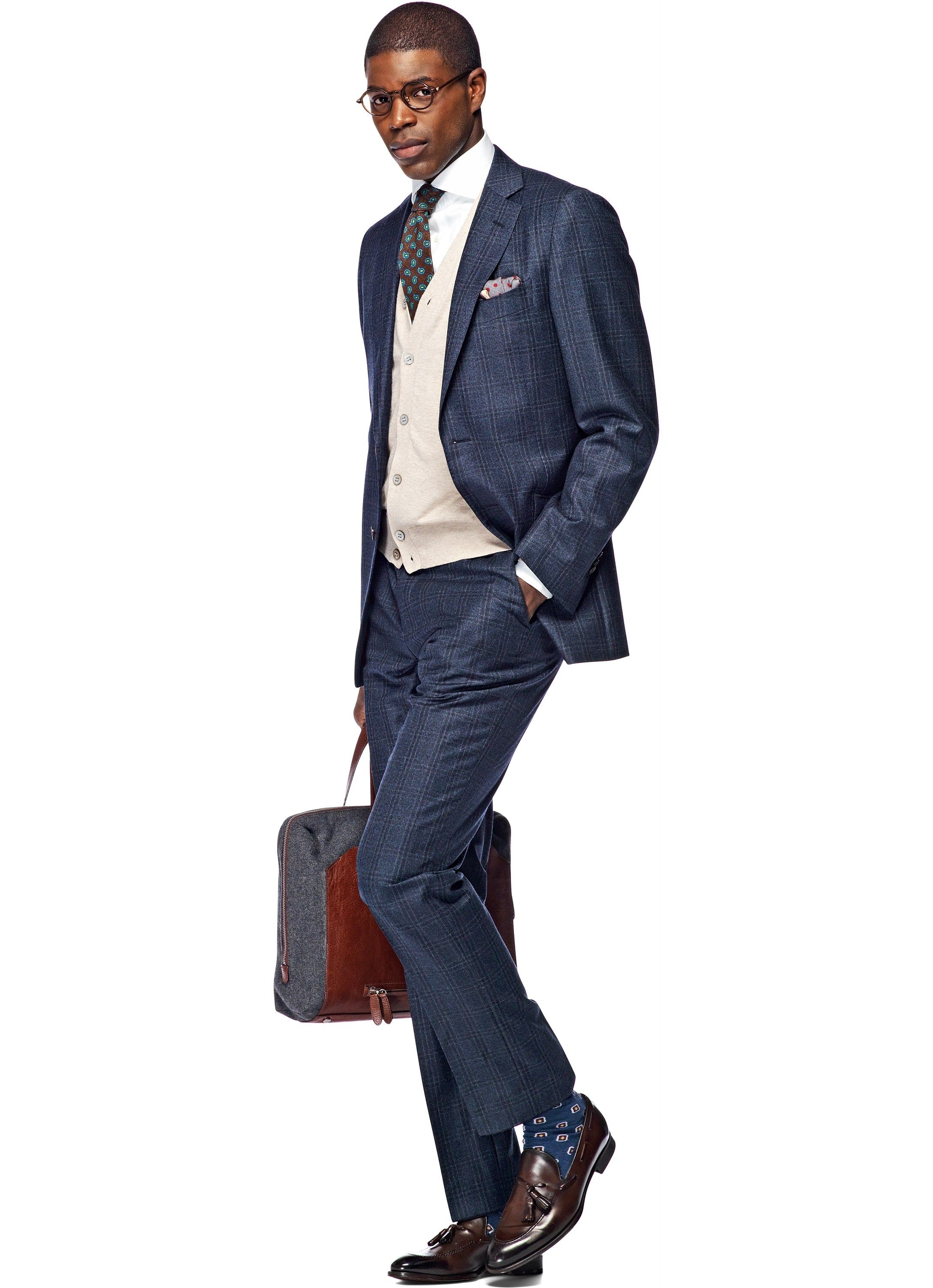 db0567626c8607 Suit Blue Check Sienna P3672i | Suitsupply Online Store | suits ...