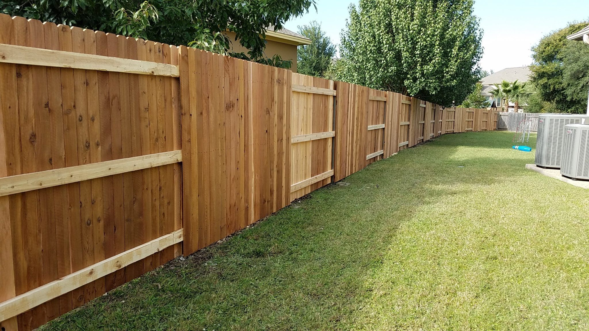 Alternating Style Privacy Fence Wood Fence Wood Privacy Fence Wooden Fence Panels
