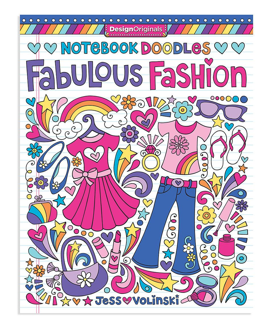 Notebook Doodles Fabulous Fashion Coloring Book By Fox Chapel Publishing Zulily Zulilyfinds