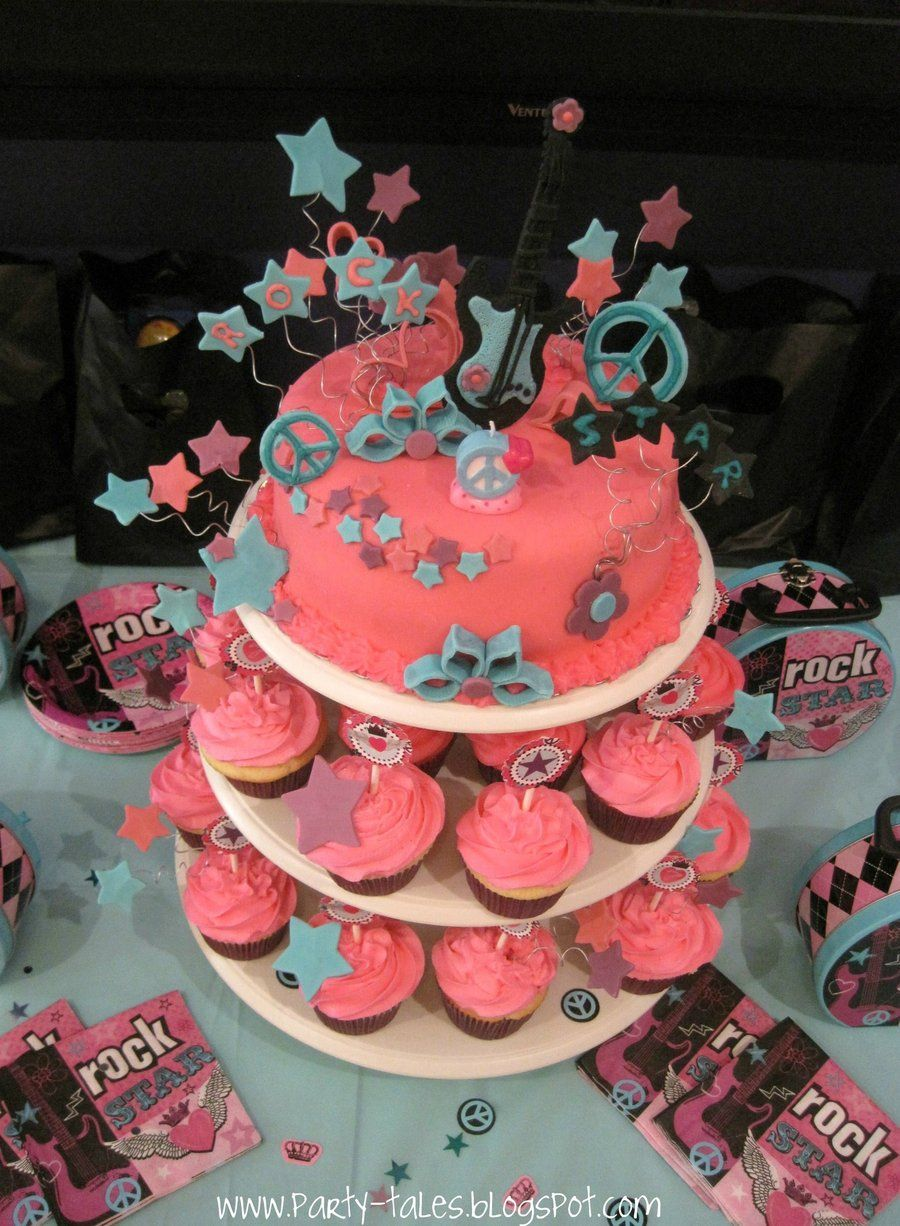 Rock Star Princess Girl 7th Birthday Party Cake And Cupcakes Cakecentral Com Star Birthday Party Rockstar Birthday Party Birthday Party Images