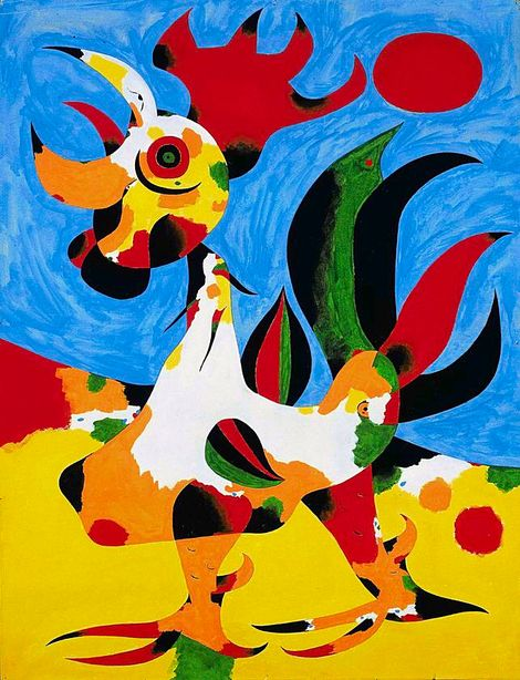 Strange animal by Joan Miró | Kunstproduktion, Idee farbe, Kunstwerke