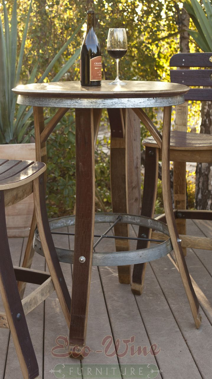 Tall Cafe Table And Chairs Tall Bistro Table Loading Wine Barrel Decor Wine Barrel Rings Wine Barrel