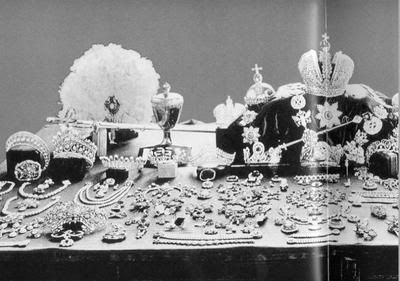 The jewels of the Romanov's....including Crown jewels...admittedly there are a lot of jewels you have to remember a lot of them were passed down from generations.