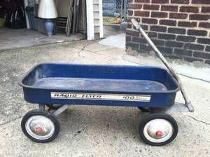 Vintage Blue Radio Flyer Wagon Must See Rare 1960 S