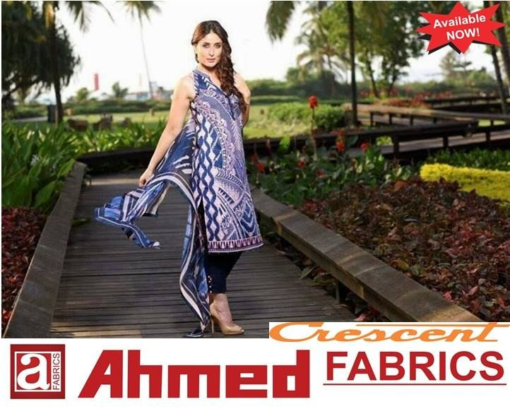 Faraz Manan Crescent Lawn Prints 2015 Up To 20 Off Available At Ahmed Fabrics Faisal Town Branch Shadbagh Branch Shahdra Branch Baghb Fashion Fabric Clothes