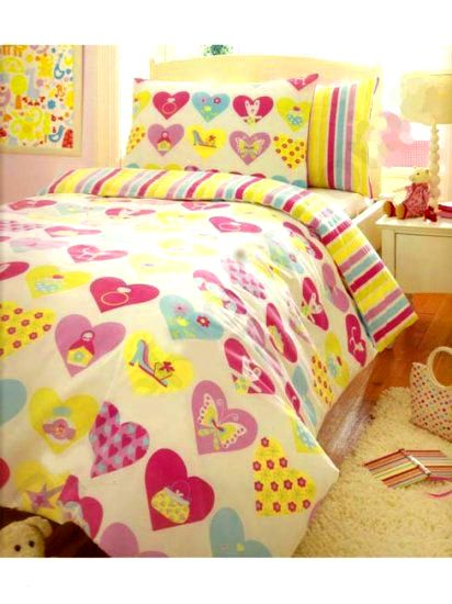 LOVE HEARTS - POSTELNÉ OBLIEČKY | Detské oblečenie | Ariela – Batohy, detské oblečenie, obuv, školské potreby pre deti