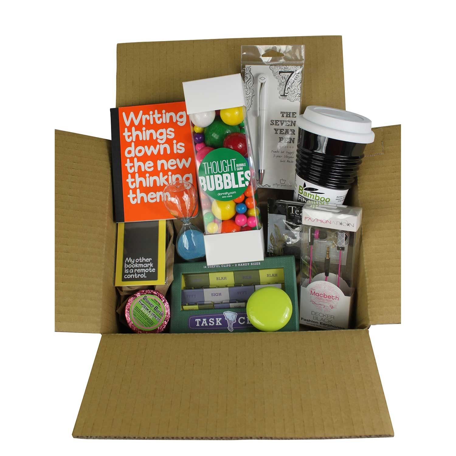 Gifts for Students  Care Package Ideas  College, Gift  ~ 074128_Dorm Room Gift Basket Ideas