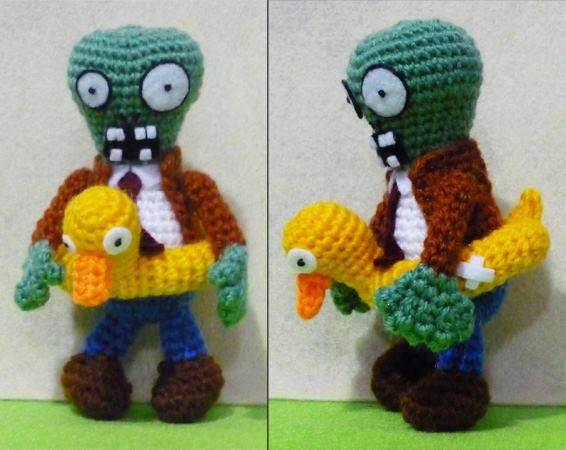 Crochet Zombie With Duck Amigurumi Finish Doll By Darmiani Design