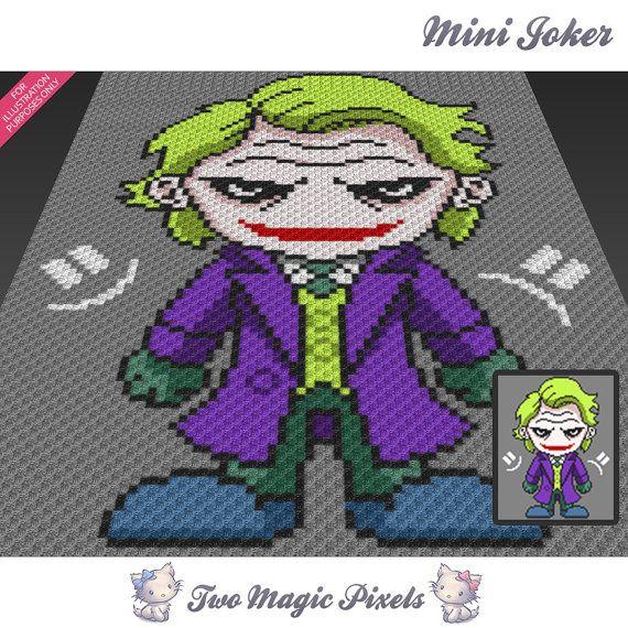 Mini Joker Inspired Crochet Blanket Pattern Knitting Cross Stitch
