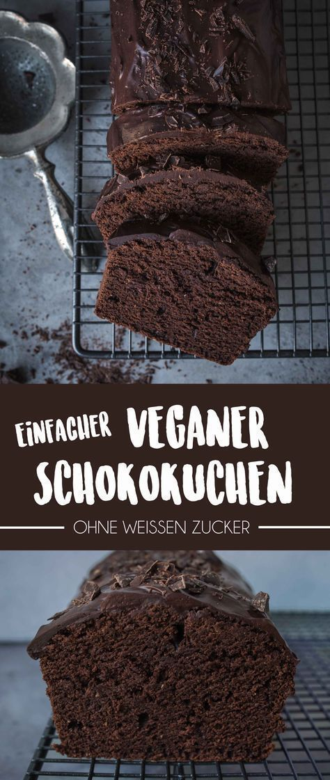 Einfacher Veganer Schokoladenkuchen (Gemacht in unter 1 Stunde),  Einfacher Veganer Schokoladenkuchen (Gemacht in unter 1 Stunde),