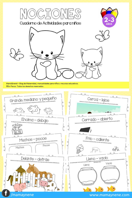 Cuaderno de Actividades para preescolar - Nociones - Mamaynene blog ...