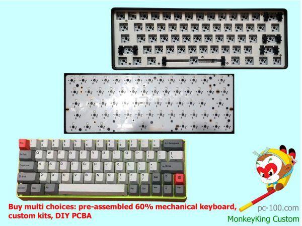 55d731a492a Custom 60% mechanical keyboard, buy best cheap poker keyboard custom kit,  DIY 60 percent keyboard PCBA