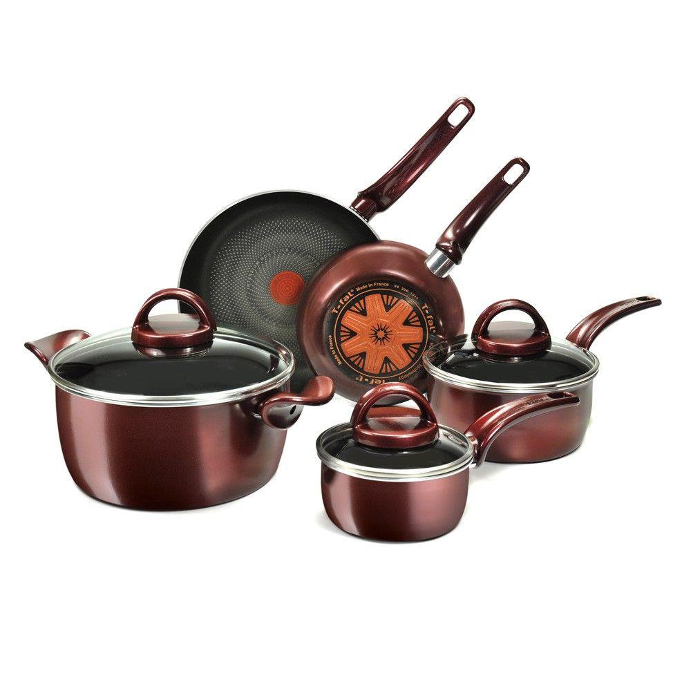 T Fal Sensorielle 8 Piece Cookware Set Kitchen Tools
