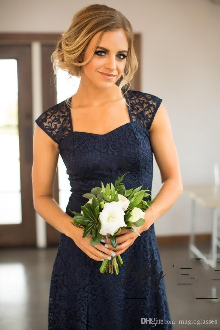 Country short lace bridesmaid dresses sheath open back sweetheart