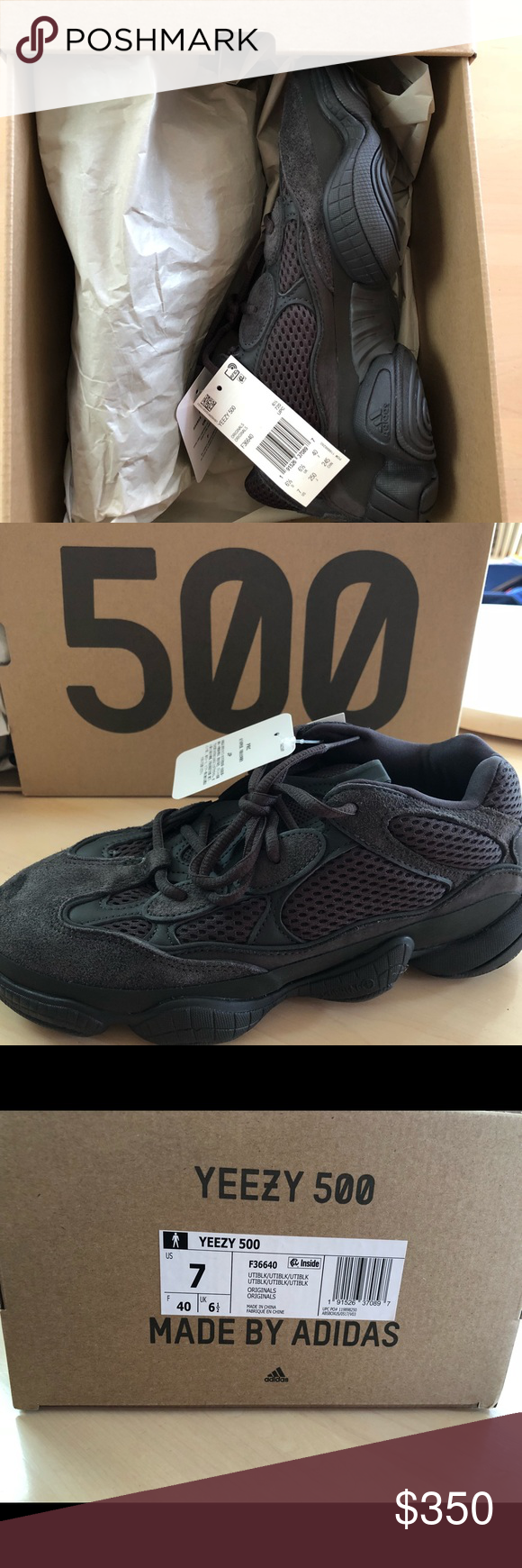 e0aff3dff49 Yeezy 500 Utility Black Size 7 men s women s 8 Size 7 men s. Brand new.  Yeezy Shoes Sneakers