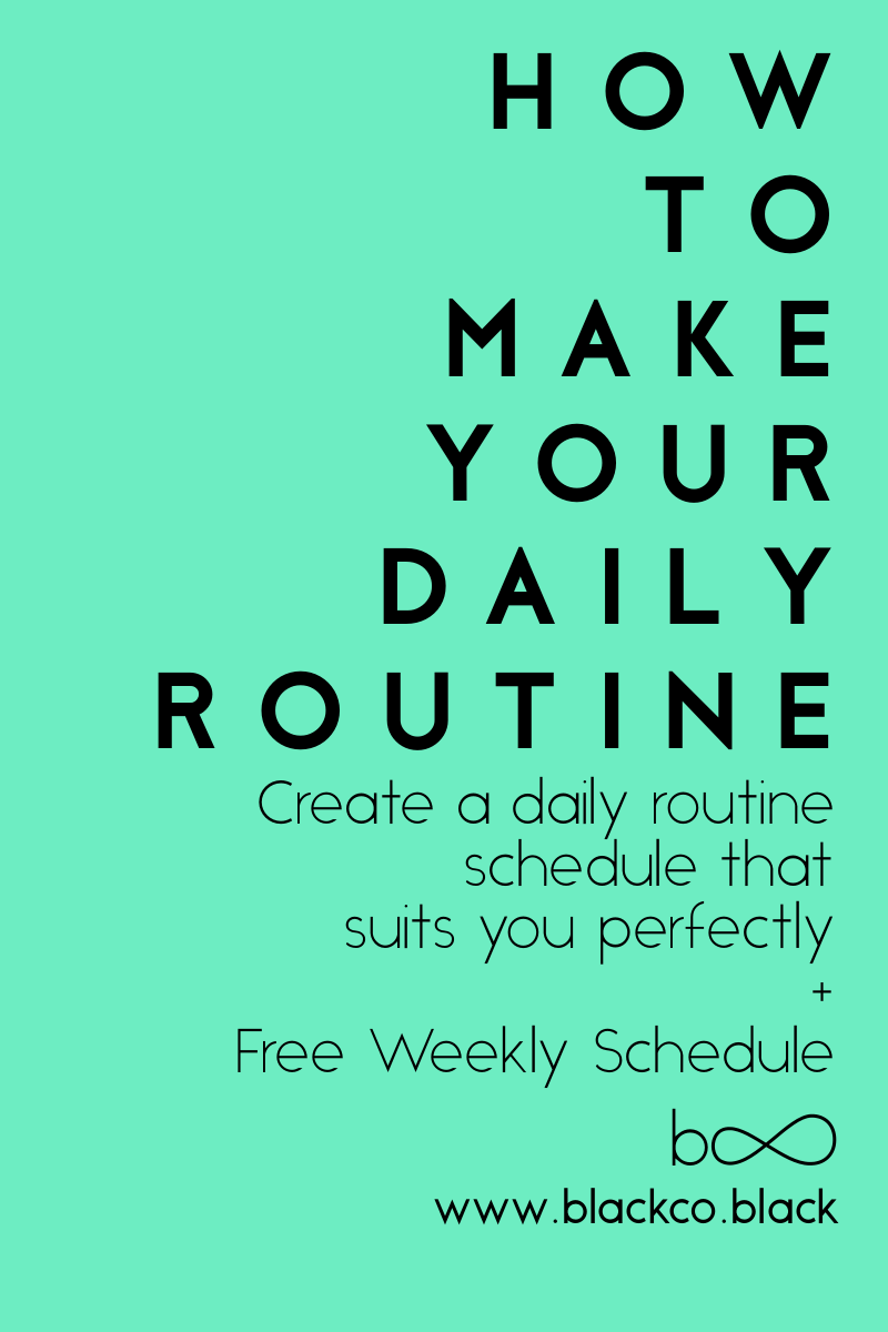 how to make your daily routine pinterest daily routine schedule