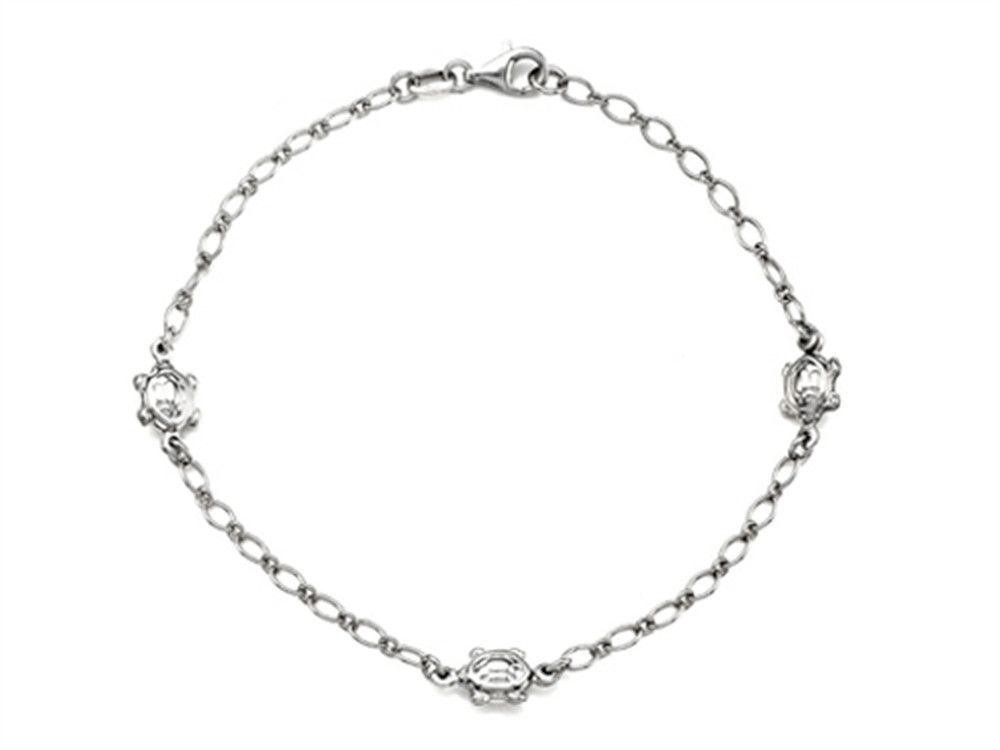 Sterling Silver 10 Inches 3 Turtles Adjustable Ankle Bracelet Ankle Bracelets Women Anklets Anklet Jewelry